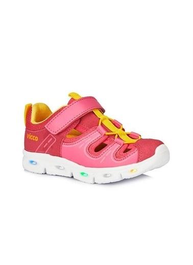Vicco Vicco Patik Phylon Işıklı Sandalet Kız Çocuk Fuşya Fuşya